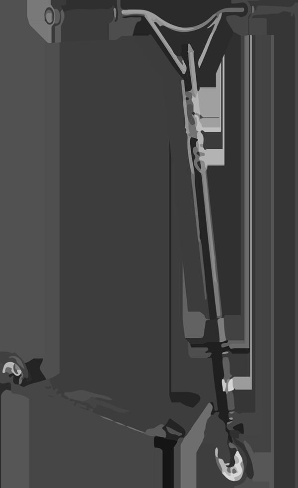 MGP VX9 Pro Scooter Fades Lime Aqua